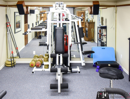 One Room Challenge – the REVEAL!  (Home Gym / Theatre Room)