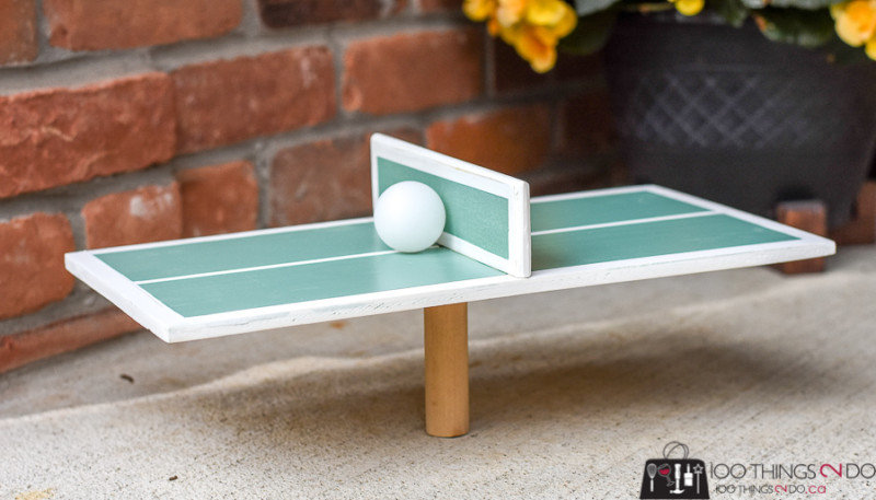 Mini ping pong / one-man ping pong, DIY ping pong, backyard games, backyard fun, scrap wood project