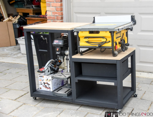 Building plans for a table saw stand
