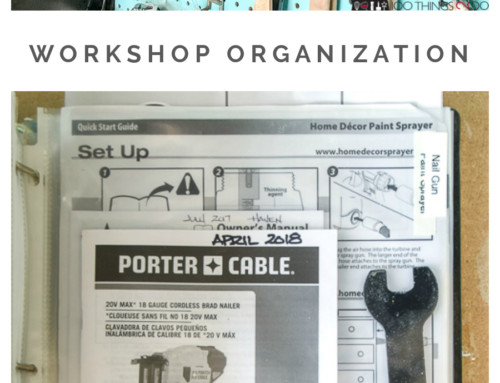 Workshop Organization – battery charging station and tool manual