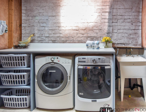 Build a Laundry Folding Table Over Your Washer and Dryer