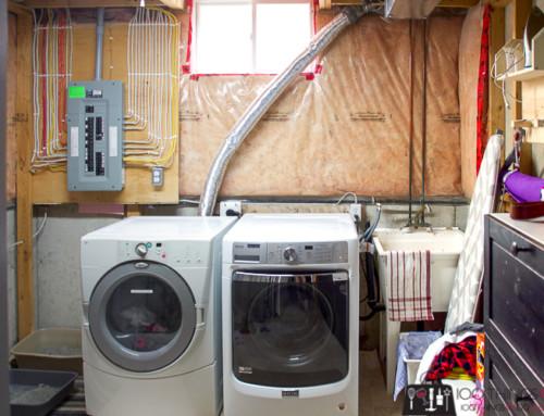 Unfinished Laundry Room