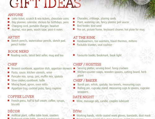 100 Christmas Gift ideas – free printable for everyone on your list!