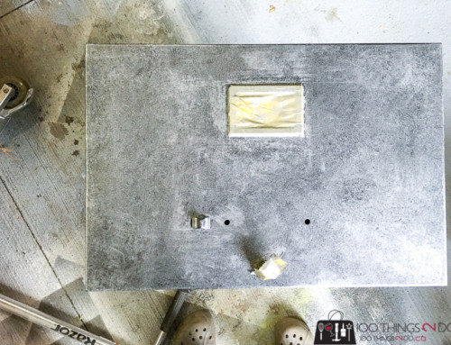 Faux zinc filing cabinet