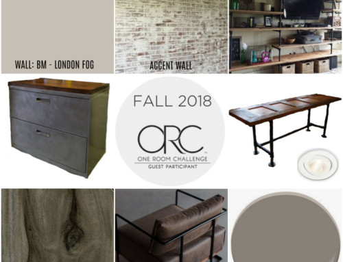 Basement office makeover – One Room Challenge, Fall 2018