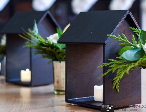 House-shaped candle holder