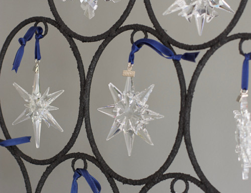 Swarovski ornament trees
