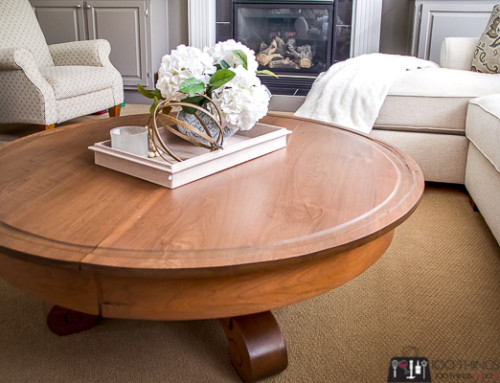 Round coffee table – you won't believe the before!