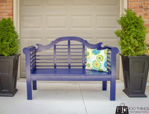 Lutyen's DIY Garden Bench