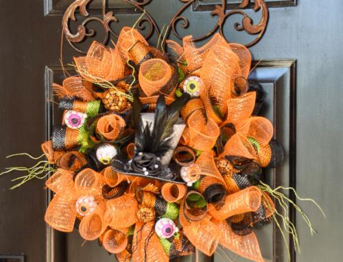 Dollar Store Hallowe'en Wreath
