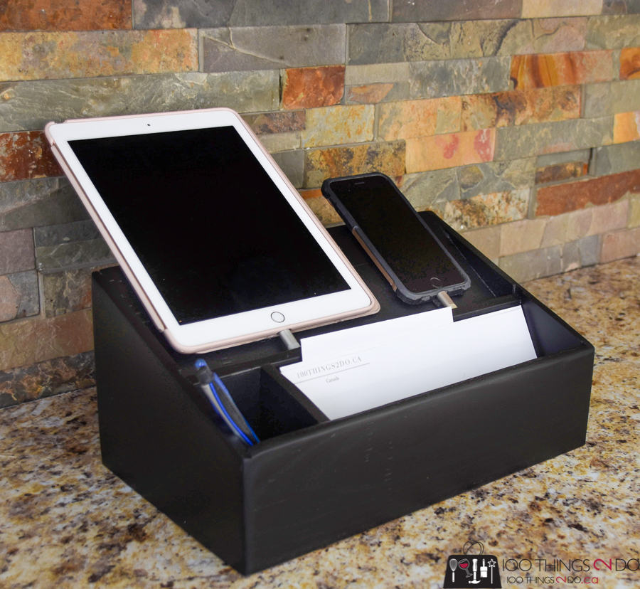 DIY charging station, iPad charging station, iPhone charging station