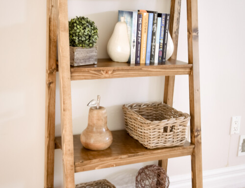Freestanding, Angled Bookcase – free building plans!