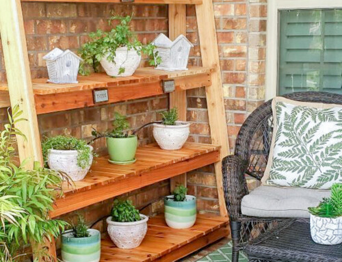 Freestanding Plant Shelf