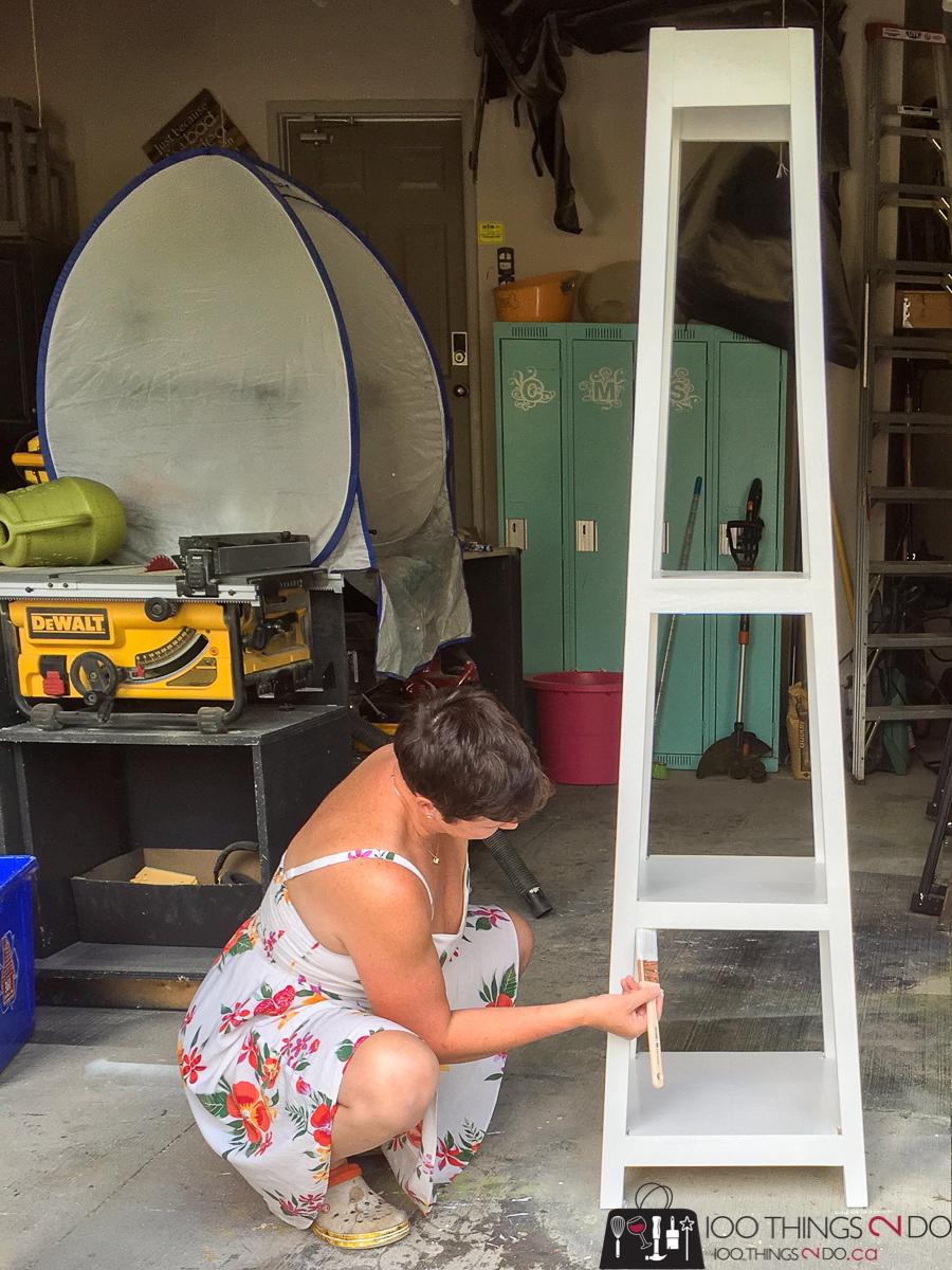 painting a coat rack