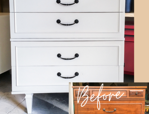 Tallboy dresser makeover – How to refinish furniture the right way
