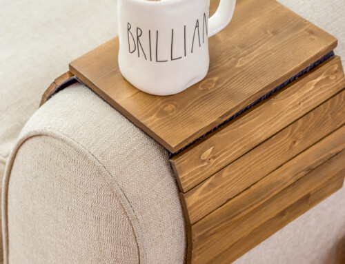 Simple scrap wood armrest table