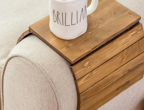 Simple scrap wood armrest table