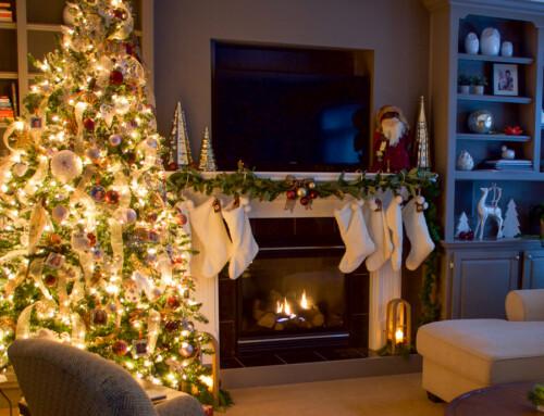 Christmas tree 2020 – burgundy, pink and gold