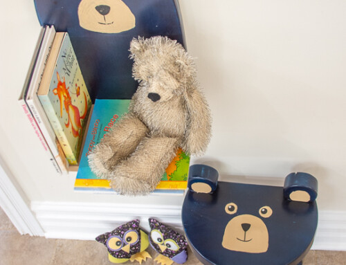Toddler room idea – bear shelf and stool