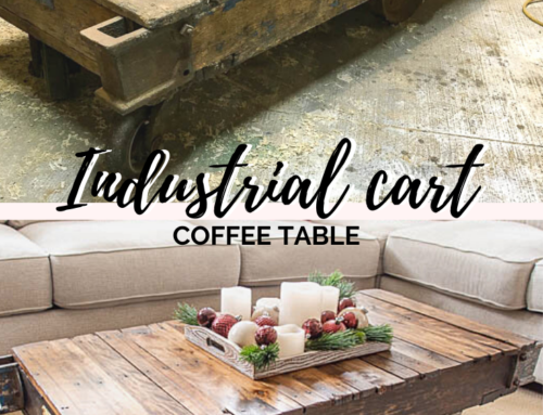 Industrial cart to coffee table (an awesome makeover!)