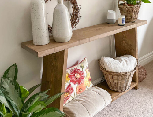 Four board console table