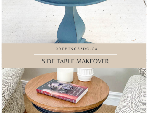 Refinishing a side table – and my first circle round!!