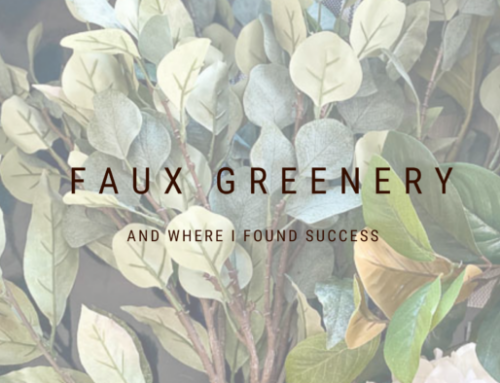 Faux greenery – and where I've had great luck!