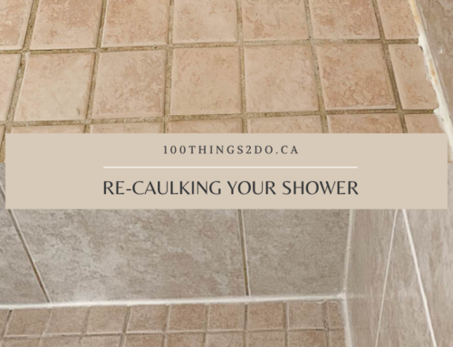Re-caulking your shower