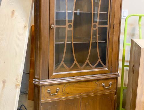 Grandma's corner cabinet makeover
