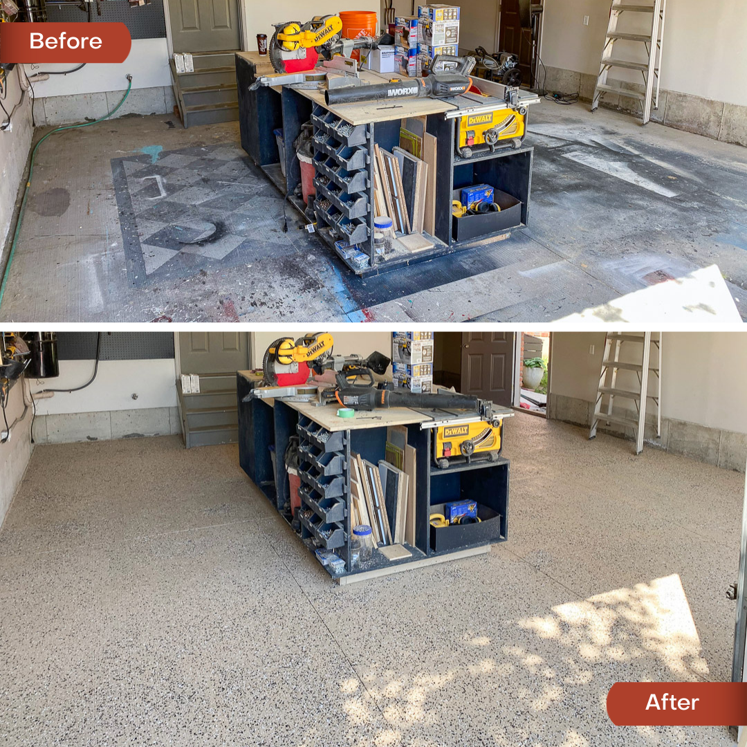 How to epoxy a garage floor, Rust-Oleum EpoxyShield