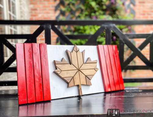 Make your own wood Canadian flag