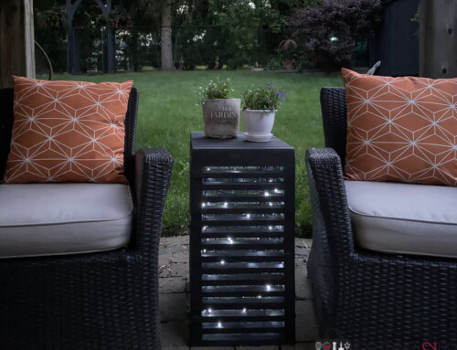 Patio side table (with lights!)