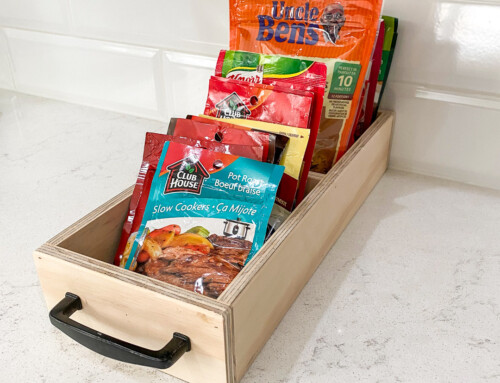 Pantry organizer for spice packets