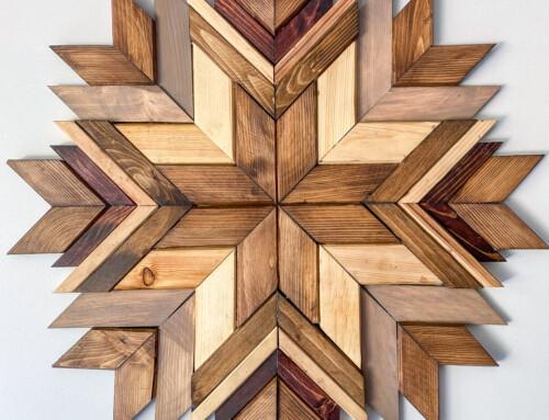 Wood art – scrap wood mosaic