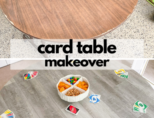 Card table makeover – or is it called a game table?