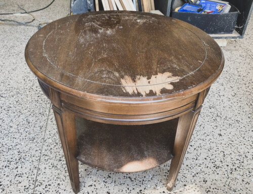 Finally!  A round side table that fits!