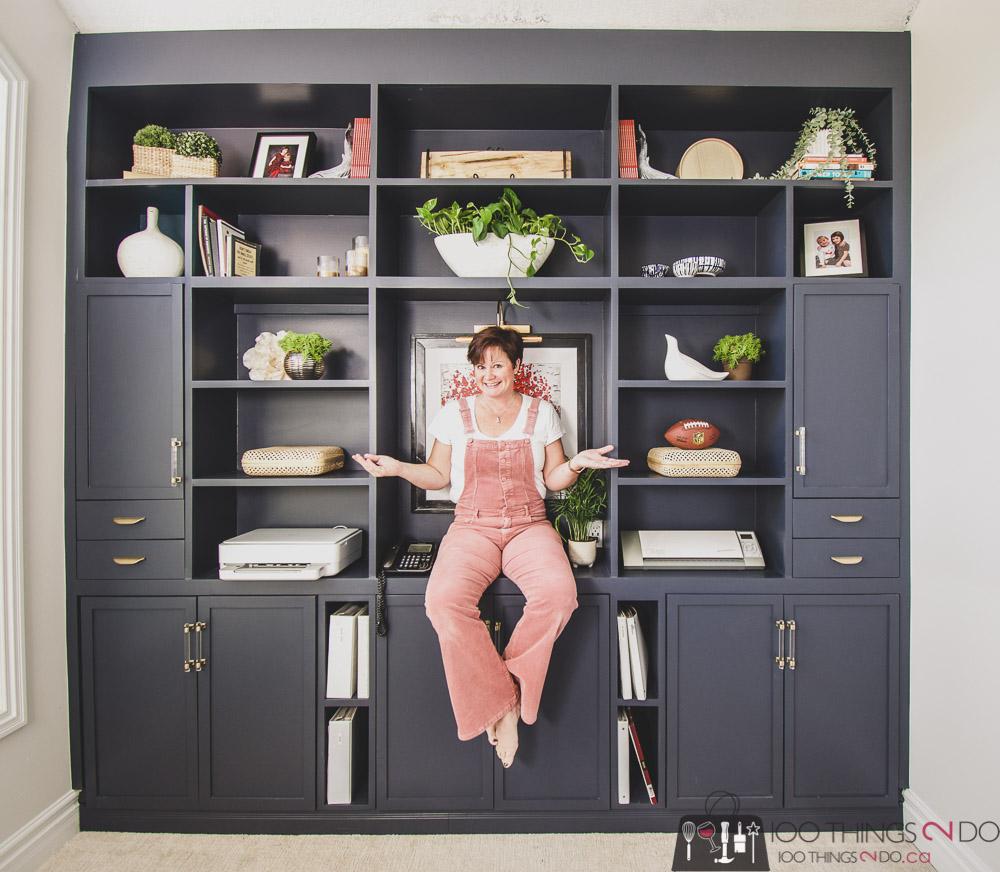 Home office built-ins, DIY built-ins