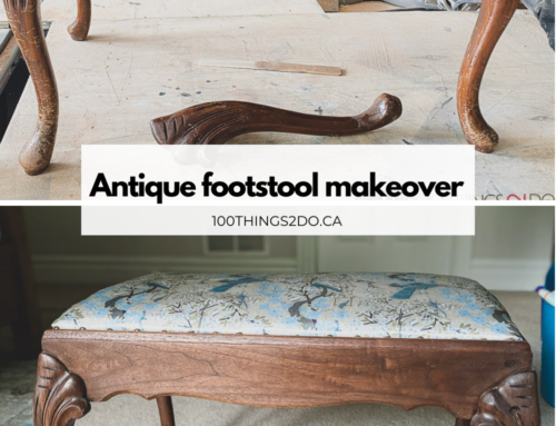 Antique footstool makeover